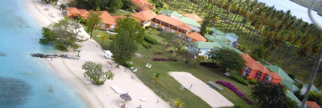 Club Med Buccaneer's Creek - Aerial view of the entire complex with his tropical garden