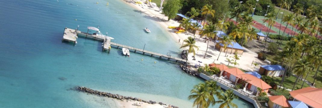 Club Med Buccaneer's Creek - Aerial view of the pontoon and complex