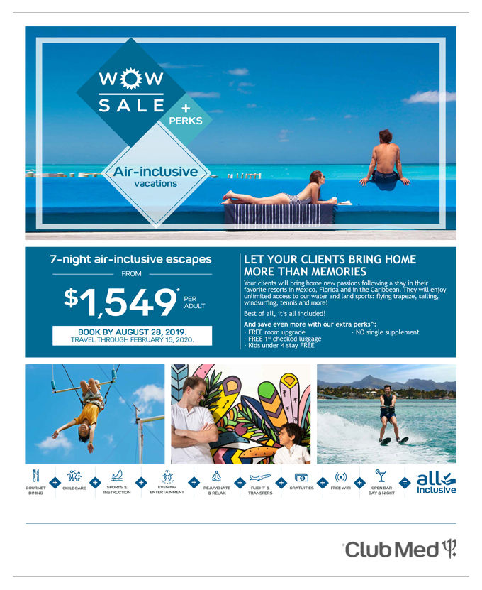 WOW SALE <br> CLUB MED