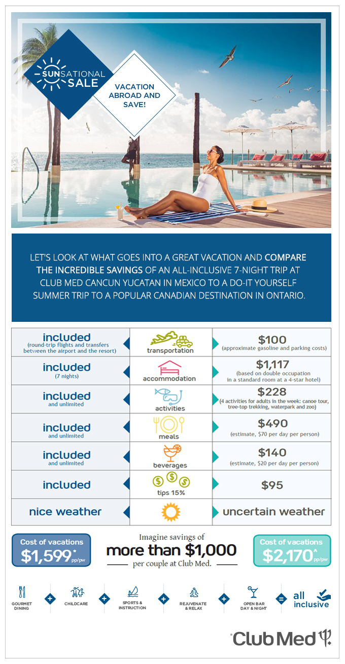 Club Med Abroad vacation Compare and Save