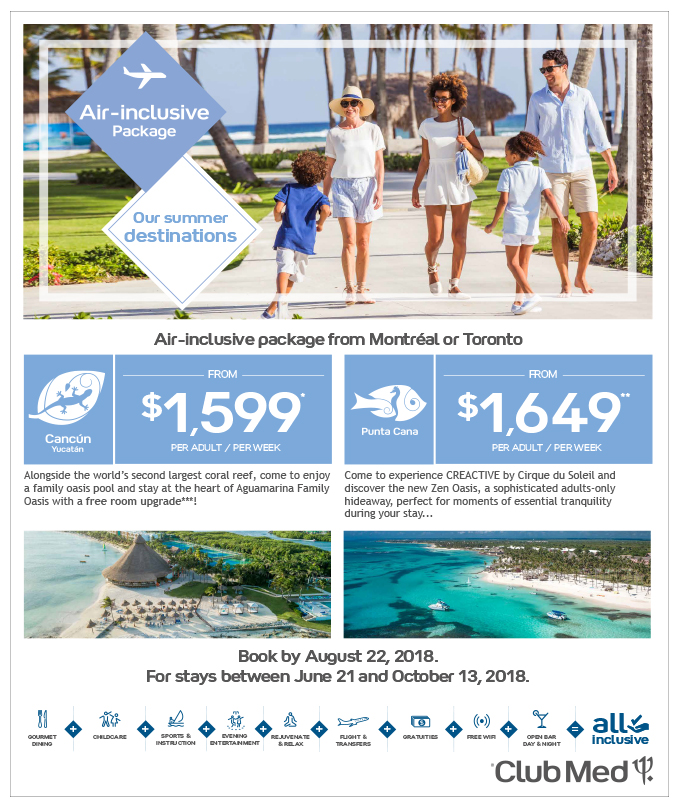 Club Med<br>Air Inclusive package