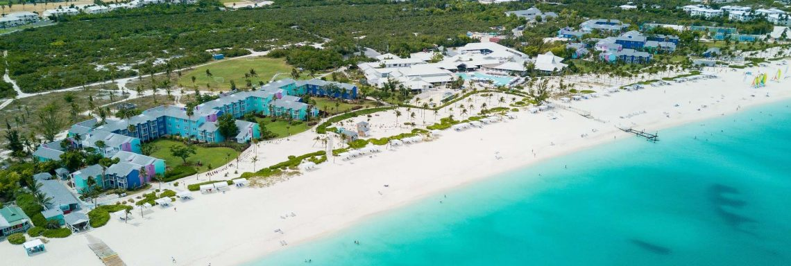 Bird's eye view of Club Med and boats