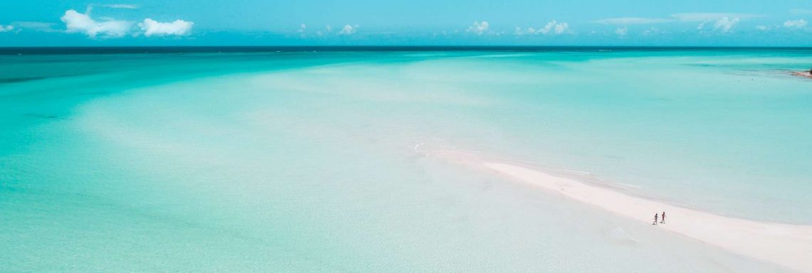 The crystal clear Caribbean sea