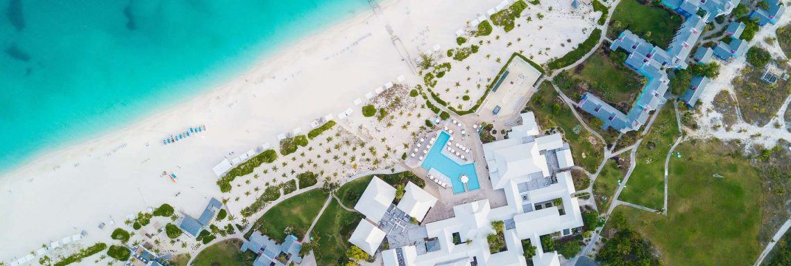 Aerial view of the entire Club Med.