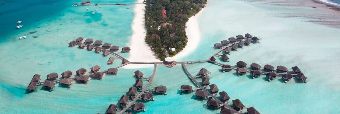 Club Med Kani, Maldives - aerial view of the entire Kani complex