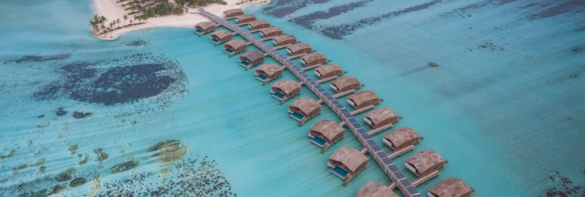 Club Med Kani, Maldives - Aerial view of the villas on stilts overlooking the Ocean