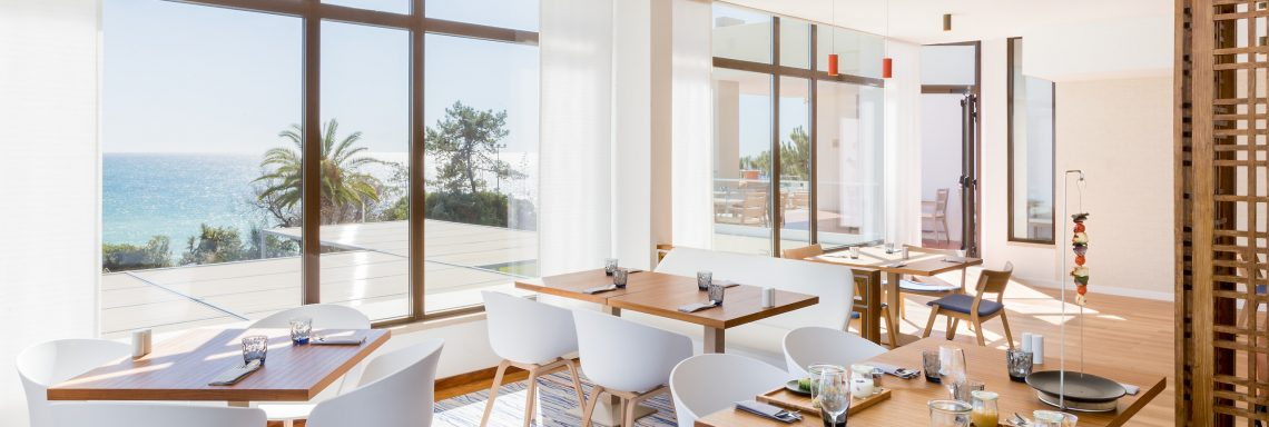 Club Med Da Balaia, Portugal - Dinning tables from the main restaurant