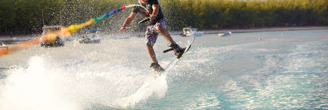 Club Med Pointe aux cannoniers, Mauritius - Man doing water ski