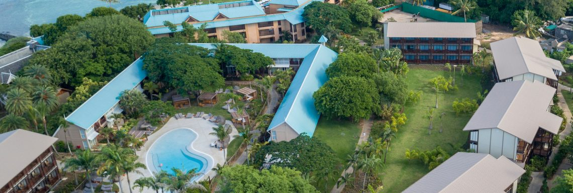 Club Med Pointe aux cannoniers, Mauritius - Panoramic aerial view of Club Med