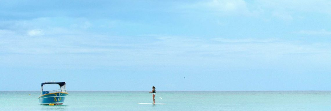 Club Med Albion Plantation, Mauritius - Woman paddle boarding