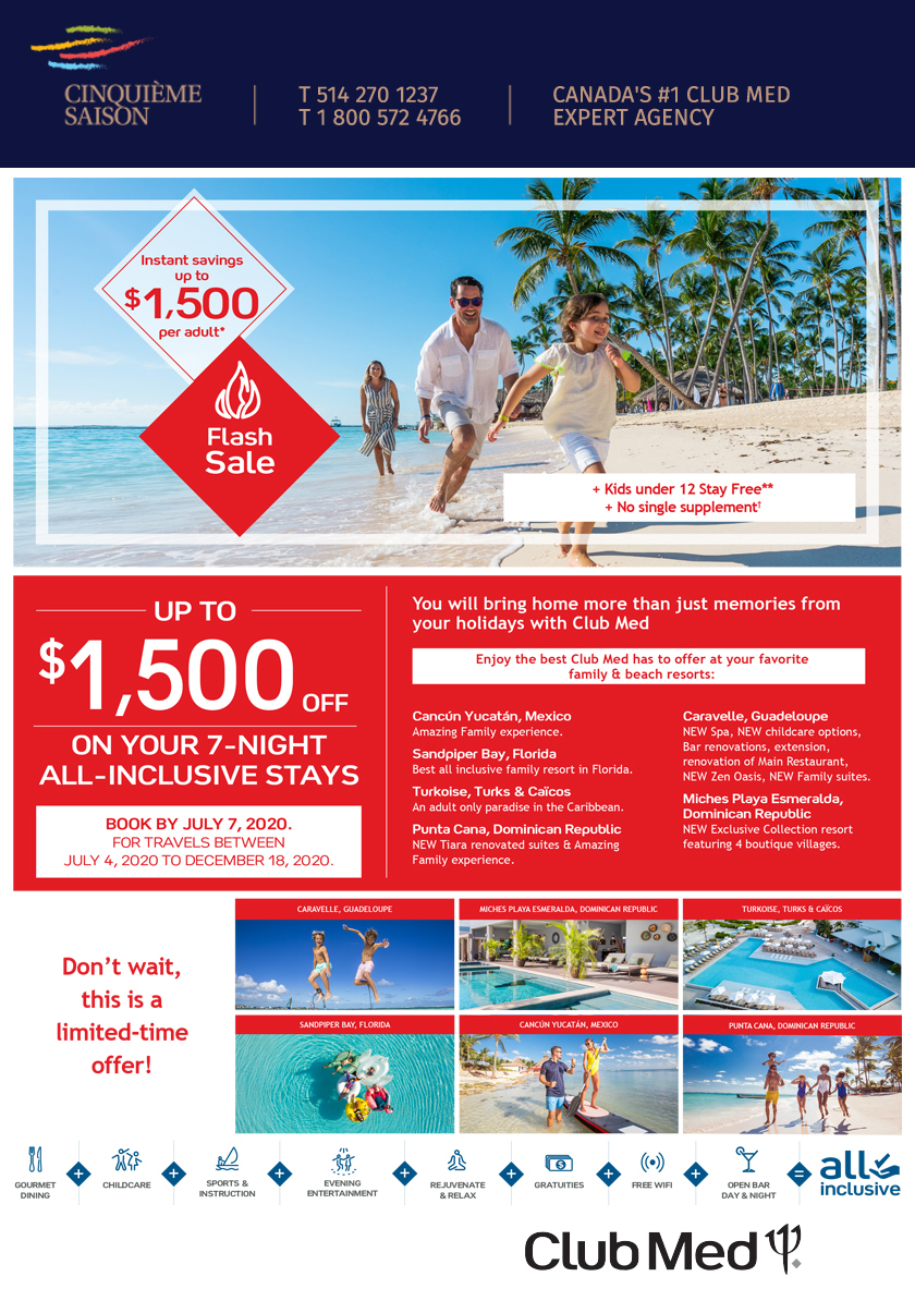 Club Med  Flash Sale!