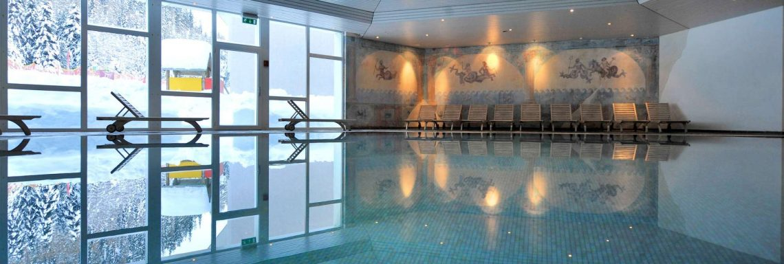 Club Med Saint-Morizt Roi Soleil, Switzerland - Indoor swimming pool of the complex.