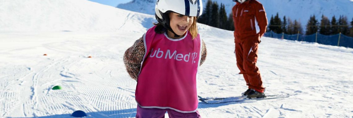 Club Med Serre-Chevalier, in France - Image of a child learning to ski