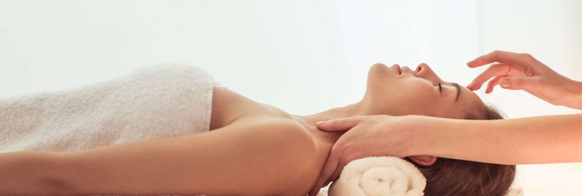 Club Med Valmorel, France - Image of a reclining woman receiving a massage at the wellness salon