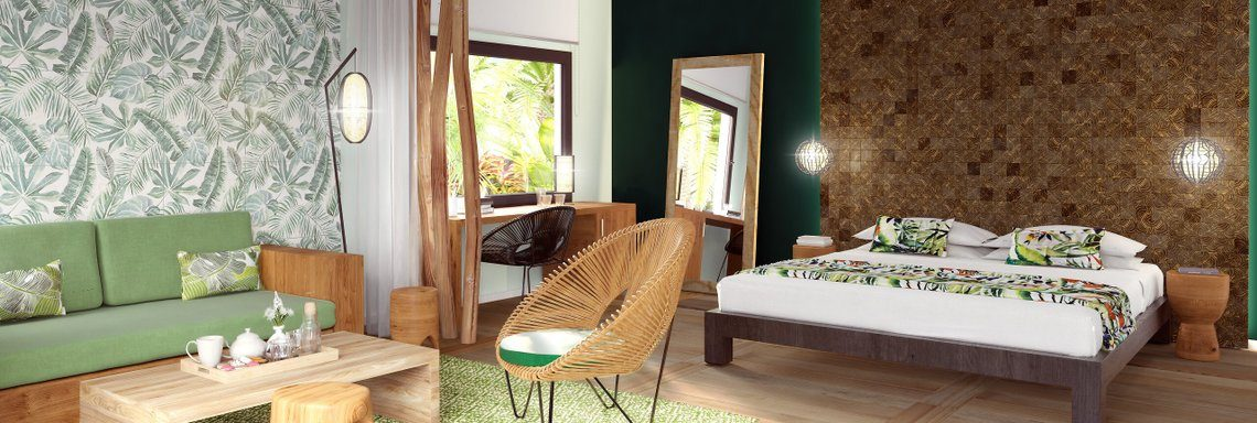 Club Med Miches Playa Esmeralda, Dominican Republic - Luxury room and eco chic decor