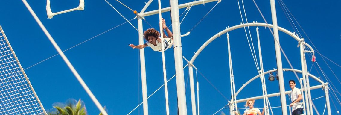 Club Med Miches Playa Esmeralda, Dominican Republic - Someone who is using the flying trapeze