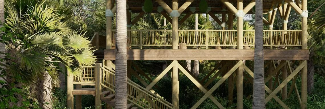 Club Med Miches Playa Esmeralda, Dominican Republic - A structure in the middle of the forest where you can enjoy yoga