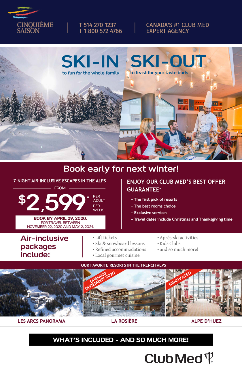 Book early for next winter!