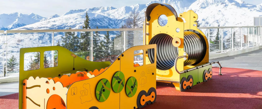 Club Med Arcs Panorama, in France - Photo of an outdoor children's outdoor play.