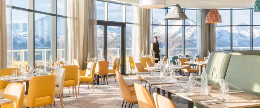 Club Med Arcs Panorama, in France - The interior of one of the complex's restaurants