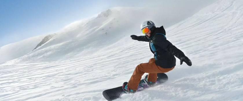 Club Med Arcs Panorama, in France - Picture of a man snowboarding