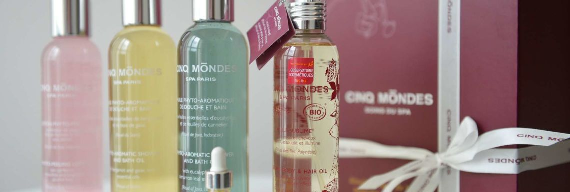 Cinq Mondes beauty product assortment