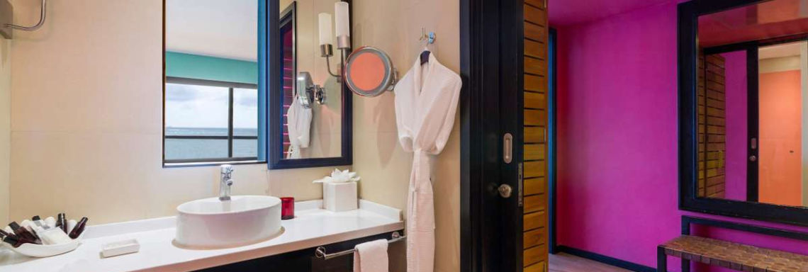 Club Med Cancun Yucatan, Mexico - Interior image of a bathroom available in Deluxe accommodation