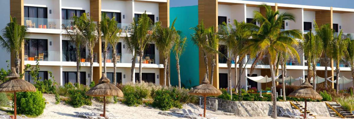 Club Med Cancun Yucatan, Mexico - Exterior view of renovated and modern buildings
