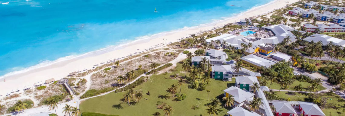 Club Med Columbus Isle, Bahamas - View of the entire resort and the sea facing
