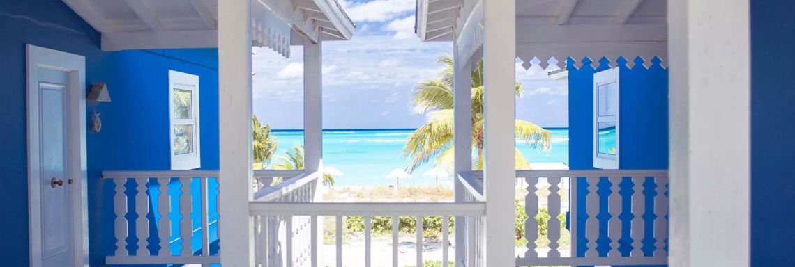 Club Med Columbus Isle, Bahamas - Photo of the view coming out of the balcony of an upper bungalow