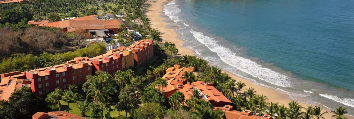 Club Med Ixtapa Pacific, Mexico - Full aerial view of the resort