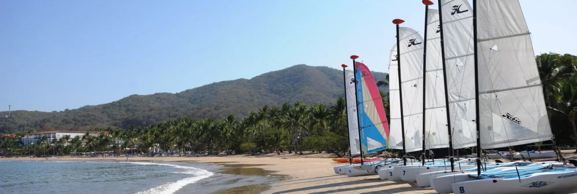 Club Med Ixtapa Pacific, Mexico - Image of the windsurf boards used at the resort school