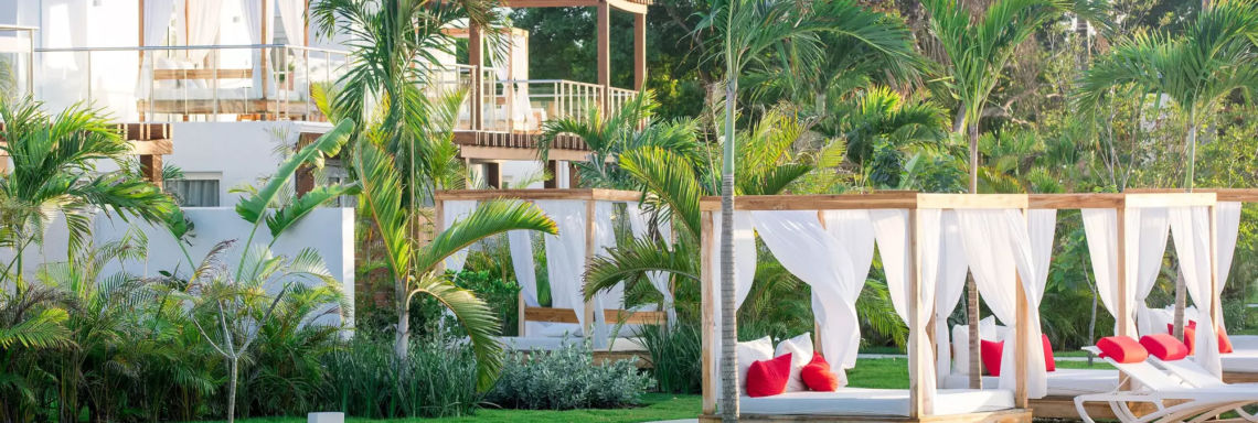Club Med Punta Cana, Dominican Republic - Image of the pool and terraces in the Oasis area